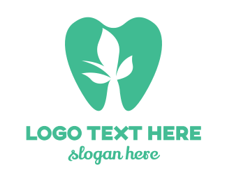 Oral Care - Green Flower Tooth logo design