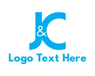 Letter J - Blue J & C logo design