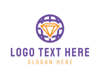 Accessory - Diamond Globe logo design