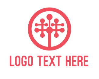 Programming - Red Tech Tree logo design