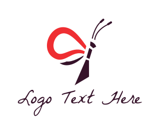 Beautiful - Red & Black Insect logo design