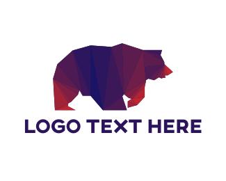 Grizzly - Geometric Grizzly bear logo design