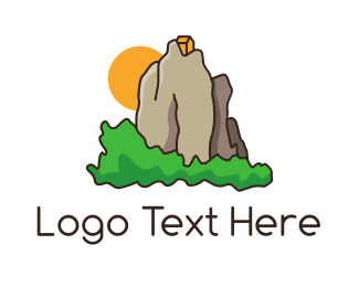 Destination - House Mountain logo design