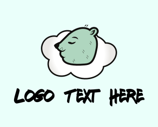 Relax - Sleeping Bear logo design