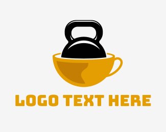 Kettlebell - Strong Coffee logo design
