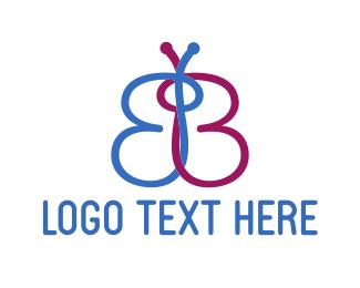 Letter B - Butterfly Letter B logo design