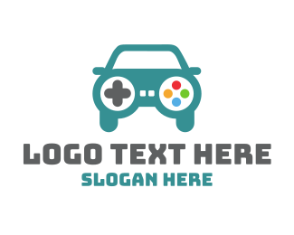 Wii - Car Gaming logo design