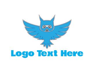 Owl - Flying Owl logo design