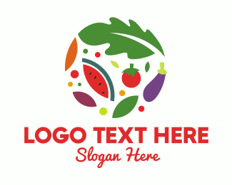 Eggplant - Food Circle logo design