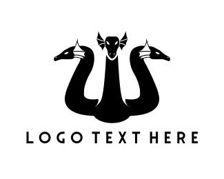 Mythology - Dragon Trio logo design