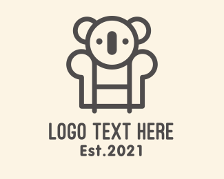 Koala Bear - Koala Sofa logo design