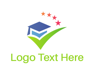 School - Graduation Hat logo design