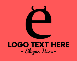 Bad - Evil Letter E logo design