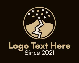 Explosive - Explosive Volcano logo design
