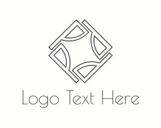 Tile - Diamond Letter P logo design