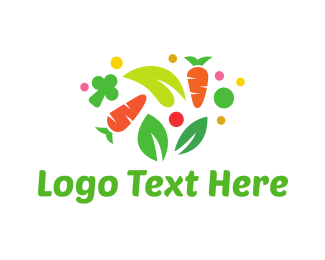Mushroom - Colorful Vegetables logo design