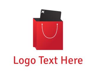 Uploading - Shopping App logo design