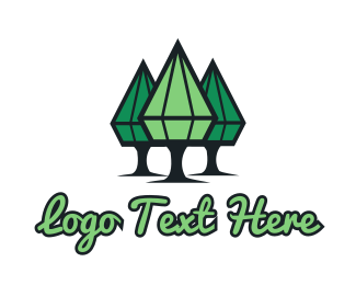 Sustainability - Diamond Trees logo design