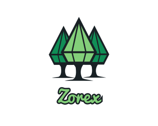 Nature - Diamond Trees logo design