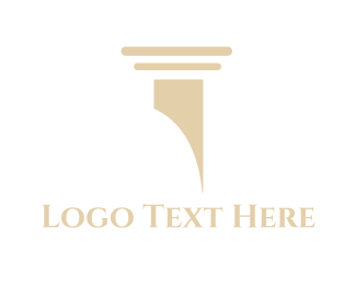 Legal - Classic Column  logo design