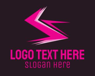 Voltage - Electric Pink logo design