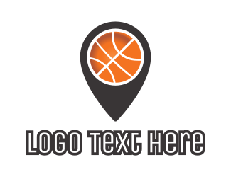 Basketball - Black Basketball Pin logo design