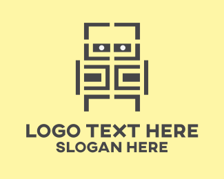 Gaming - Maze Robot logo design