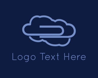 Paper - Purple Clip Cloud logo design