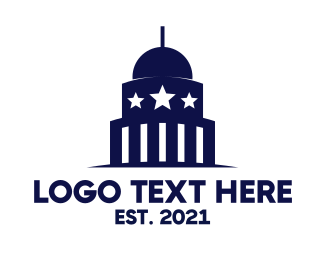 Capitol - Blue Capitol Building logo design