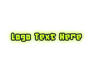 Teenager - Cute Neon Monster logo design