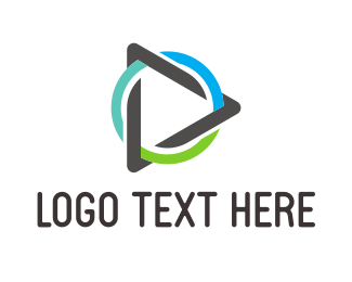 Triangle - Video Play Circle logo design