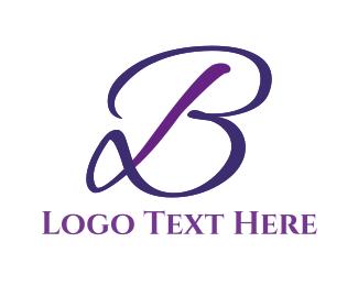 Cursive - Elegant Letter B logo design