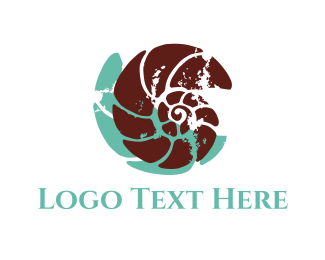 Snail - Brown Shell logo design