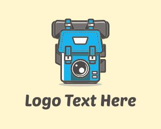 Backpack - Bag & Camera logo design