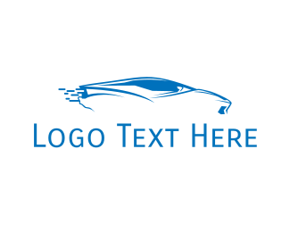 Fast - Blue Car logo design