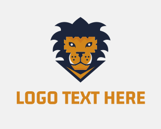 Baseball - Lion Game logo design