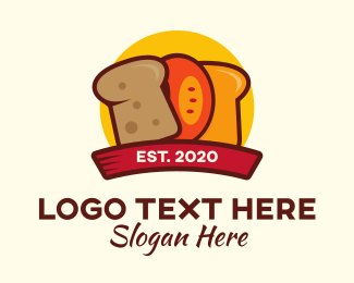 Loaf - Bread Slices logo design