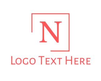 Sansserif - Pink Classic Letter N logo design
