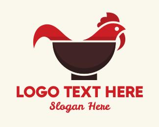 Bowl - Chicken Bowl logo design
