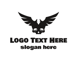Pubg - Black Wing Skull logo design