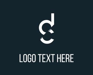 Cut - D & C Letters logo design