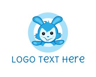 Rabbit - Blue Rabbit logo design