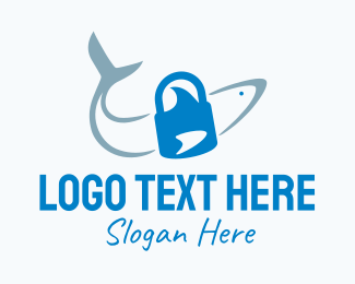 Lock - Shark Lock logo design