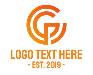 Angular - Geometric G Outline  logo design