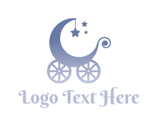 Nursery - Baby Carriage logo design