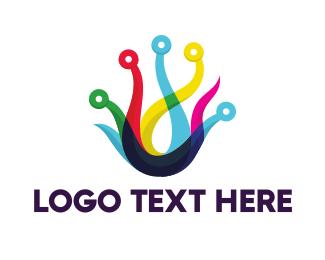 Overlap - Circuit Tentacles logo design
