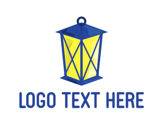 Lamp - Blue Lantern logo design