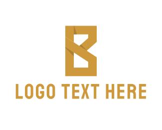 Consulting - Golden Letter B logo design