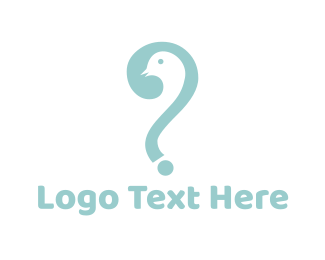 Bird Question logo design