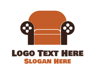 Sofa - Brown Couch Gaming  logo design